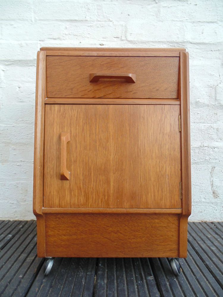 Retro Style Container Bedside Table: RETRO G PLAN BRANDON BEDSIDE CABINET DRAWER *FREE DELIVERY