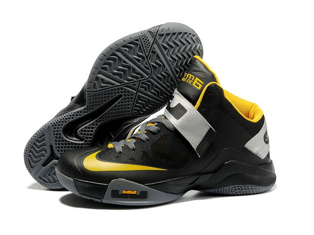 promo code 68f29 d8031 Nike Lebron Zoom Soldier VI Shoes Black Yellow