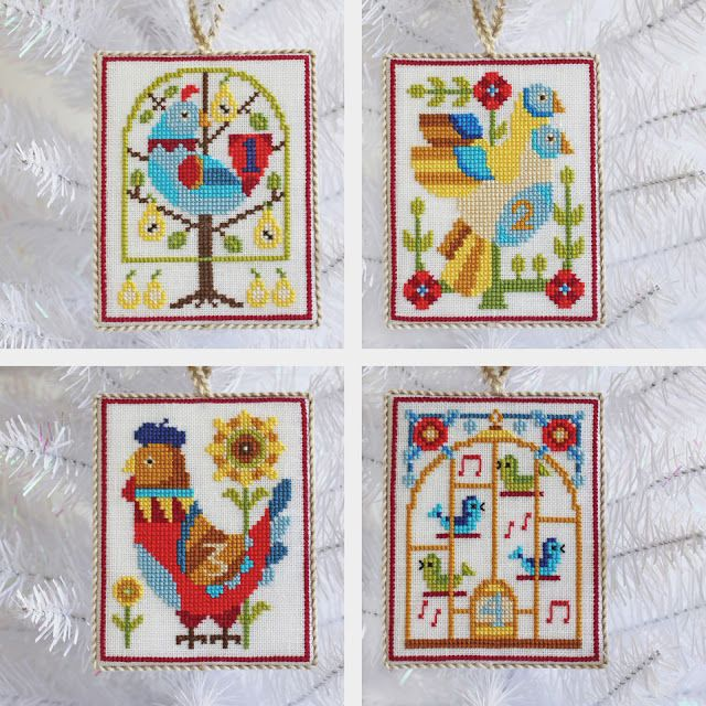 Satsuma Street - 12 Days of Christmas Cross Stitch Ornaments