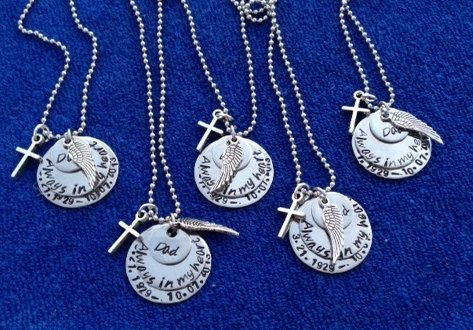 3 Tier Grief Necklace on Etsy, $35.00