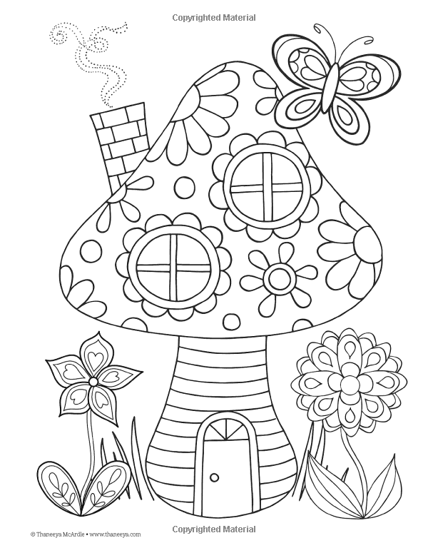 Peace & Love Coloring Book (Design Originals): Thaneeya