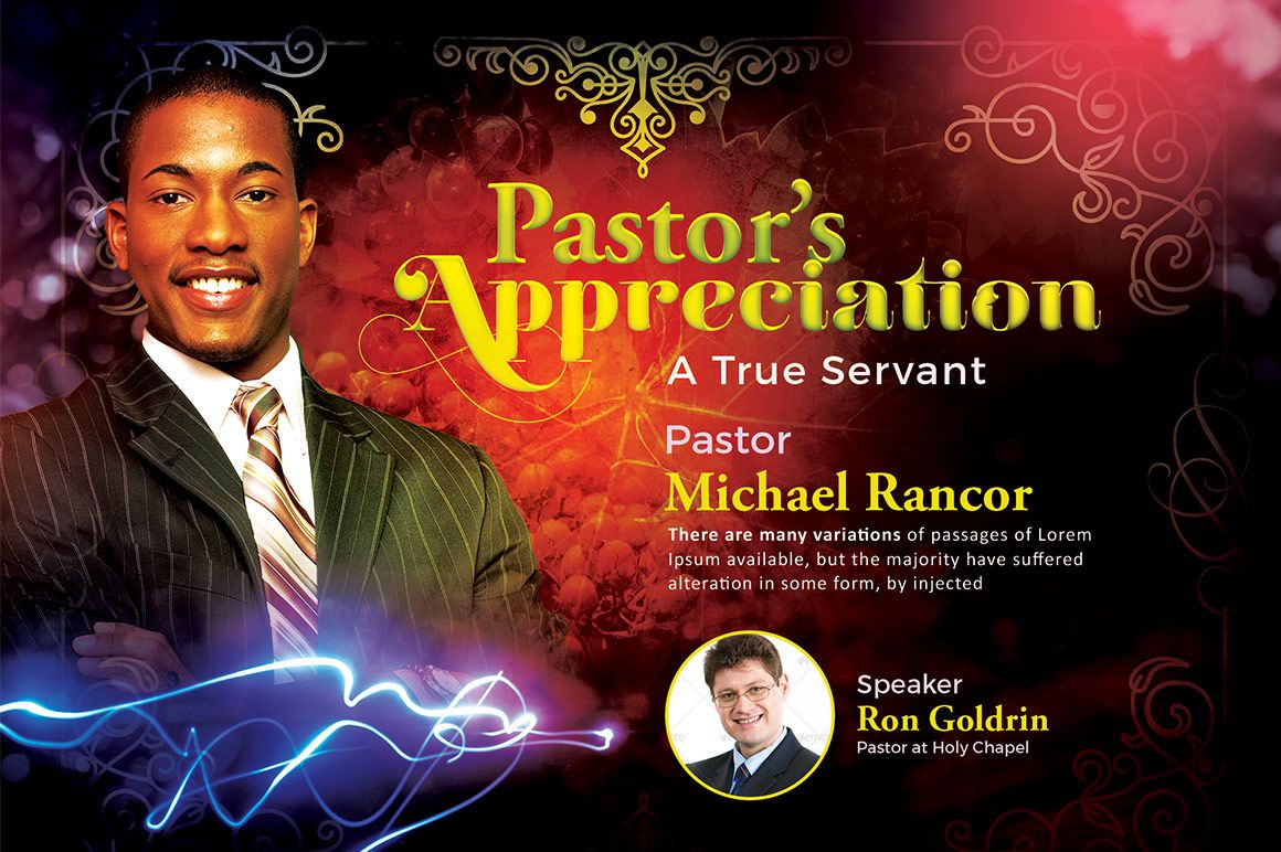 Pastors Appreciation Flyer Template By SeraphimChris On Creativemarket