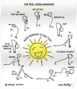 'the real sun salutation ' posterthetap  surya