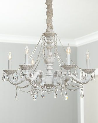 White abbi chandelier traditional chandeliers by horchow