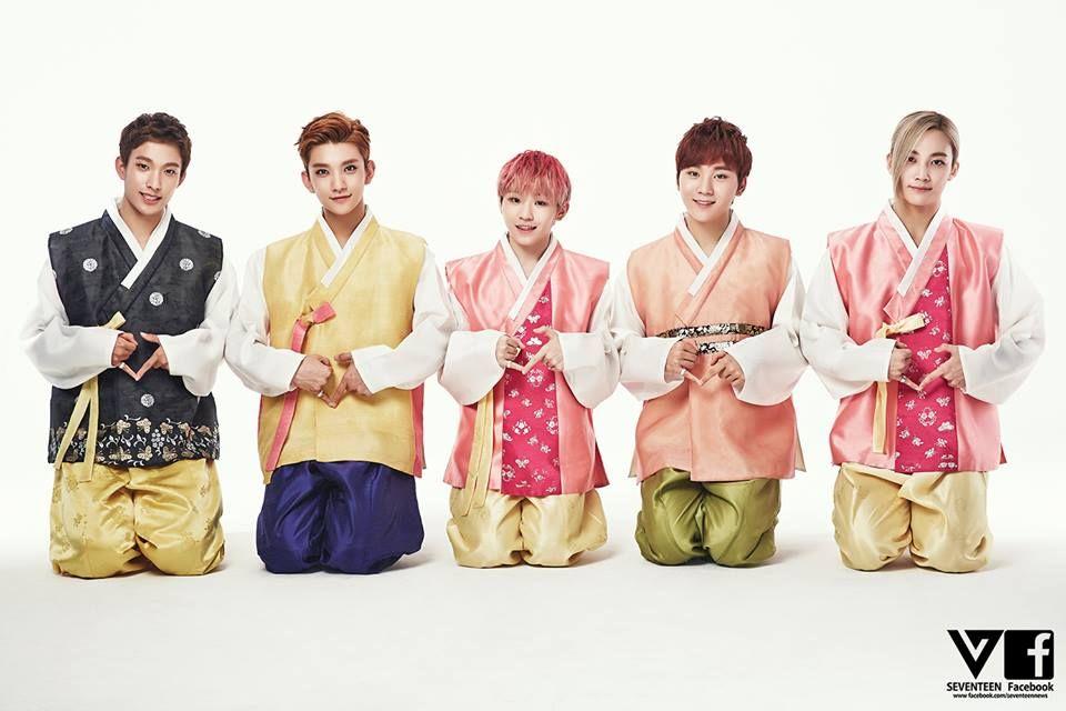 lee seokmin x hong jisoo x lee jihoon x boo seungkwan x yoon jeonghan for chuseok 2015
