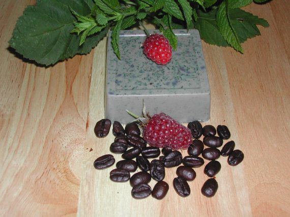 Goat Milk Raspberry Coffee Mint Soap-All Natural-Hand Made-Buy 5 & Get 1 Free