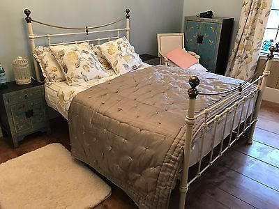 Beautiful Cream Metal Double Bed Frame https://t.co/ZhutjvgXnN https://t.co/1avrbSLcFy