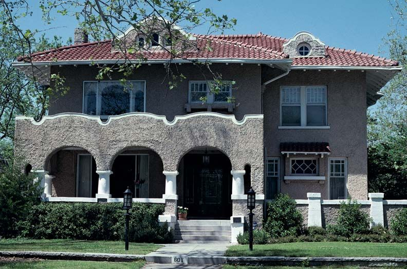 Spanish revival architecture in america stucco walls for Mission stucco