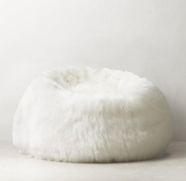 Kashmir Faux Fur Bean Bag White Faux Fur Bean Bag Fur Bean Bag White Bean Bags