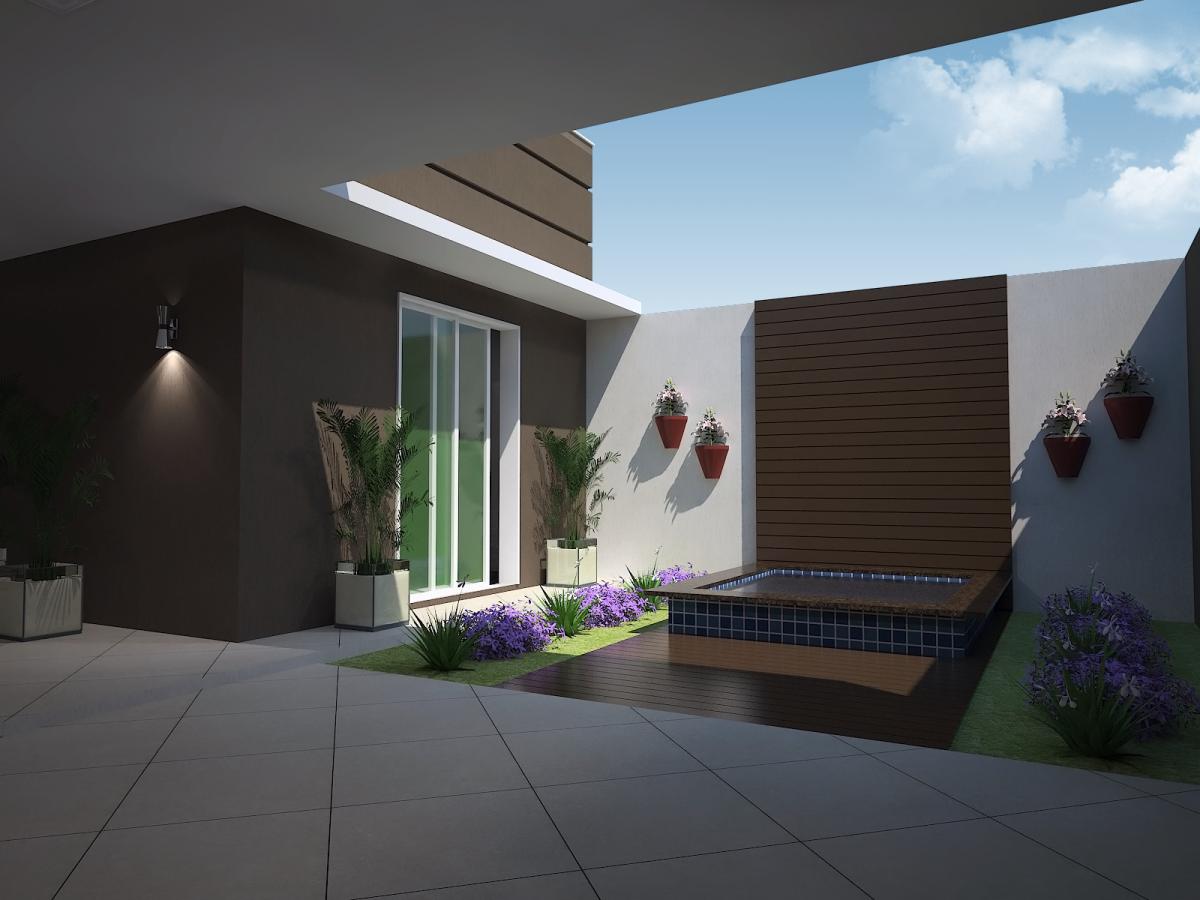 Projeto 100 metros quadrados casa t rrea fachada moderna for Casa moderna 8
