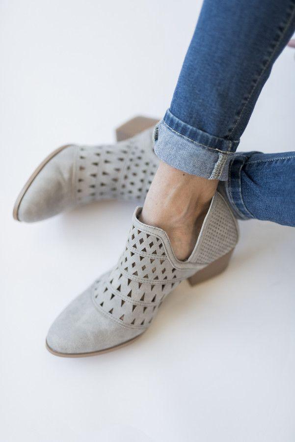 7d0db67d94637 Travis Bootie - Light Grey | Style | Shoe boots, Shoes, Boots