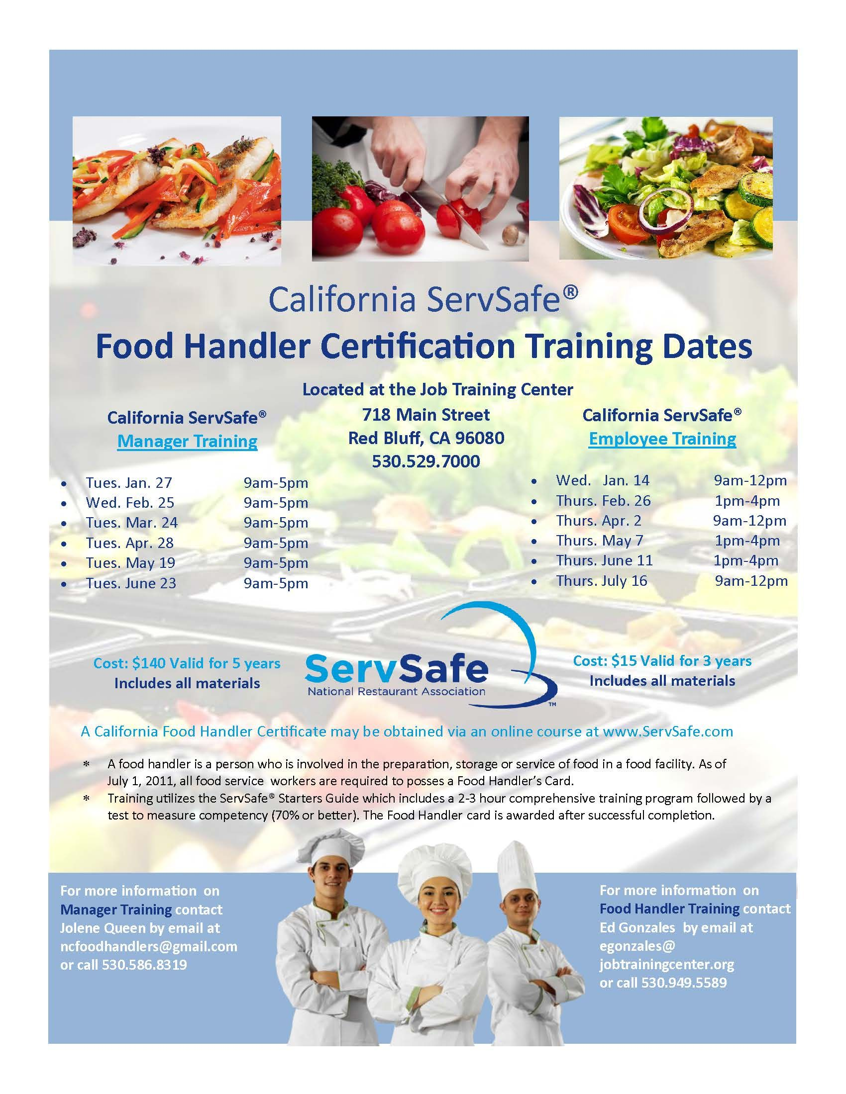 ServSafe Food Handler Card Flyer