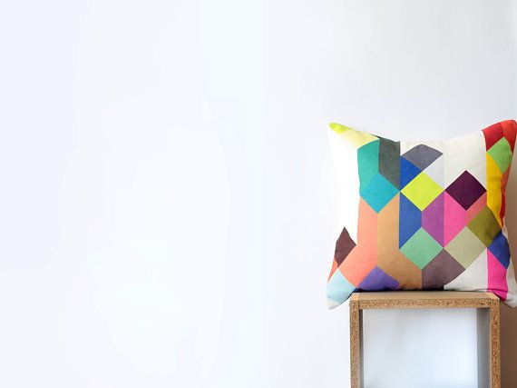 A bright and cheery pillow.