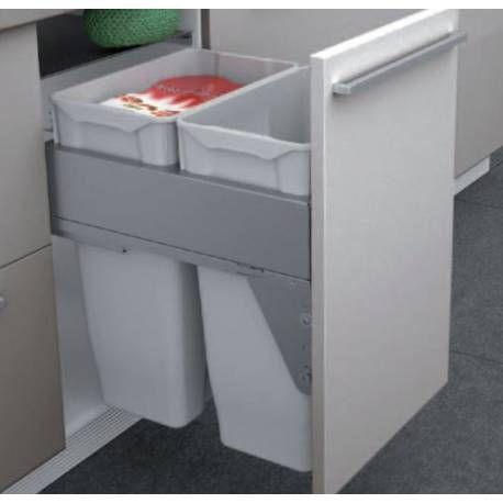poubelle pour caisson meuble de cuisine