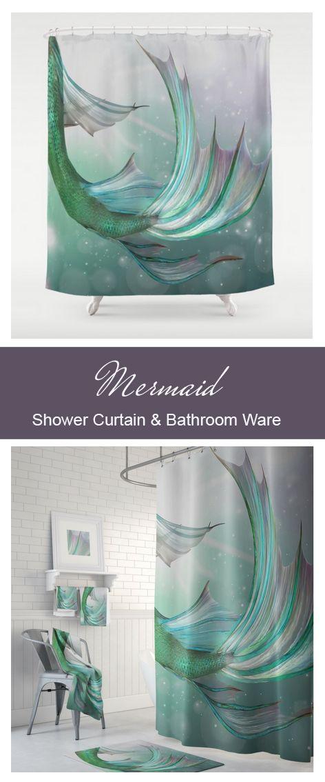 Mermaid Decor, Mermaid Bathroom, Nautical Decor, Beach Decor ...