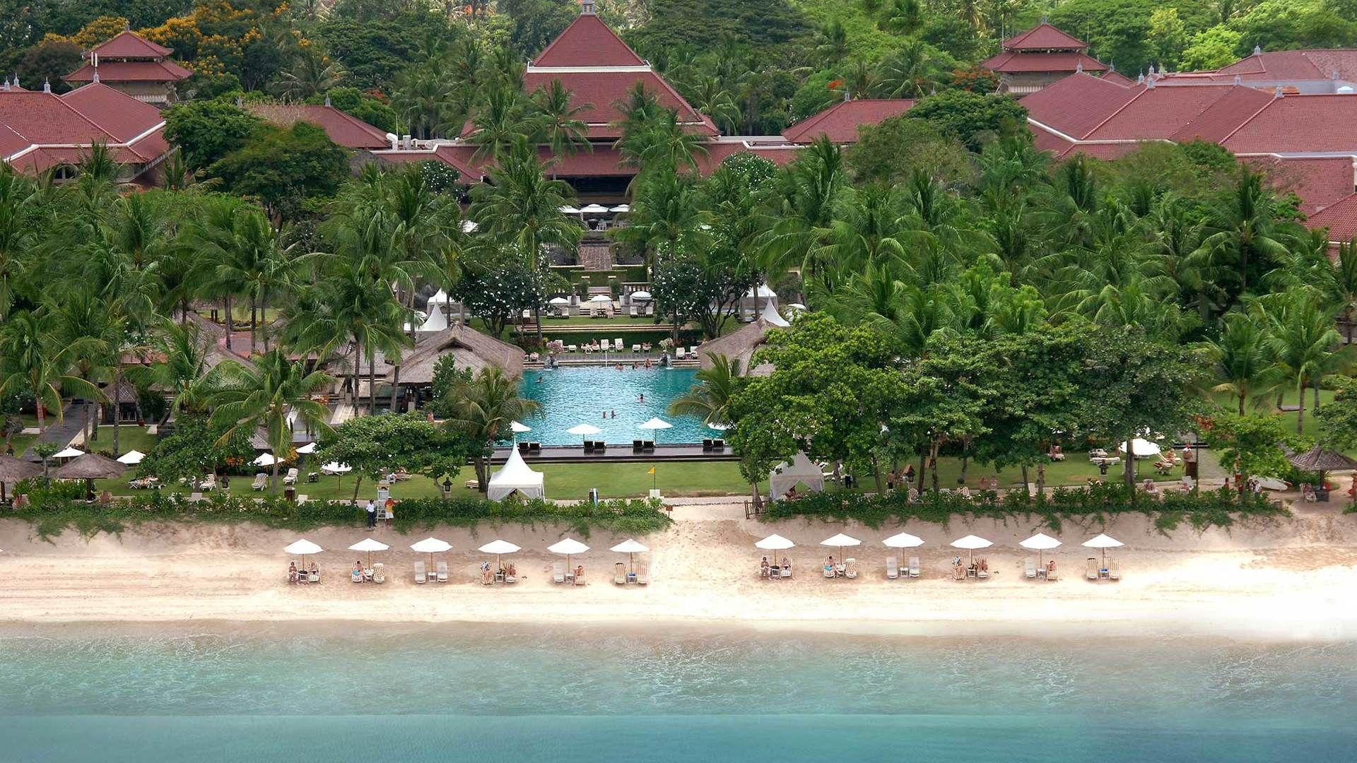 Intercontinental Bali Resort Beach Aerial View