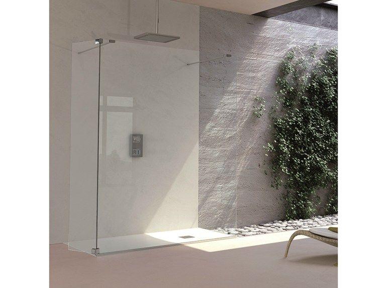 duschwand aus gehrtetem glas italo centralebella tda - Duschtrennwand Glas