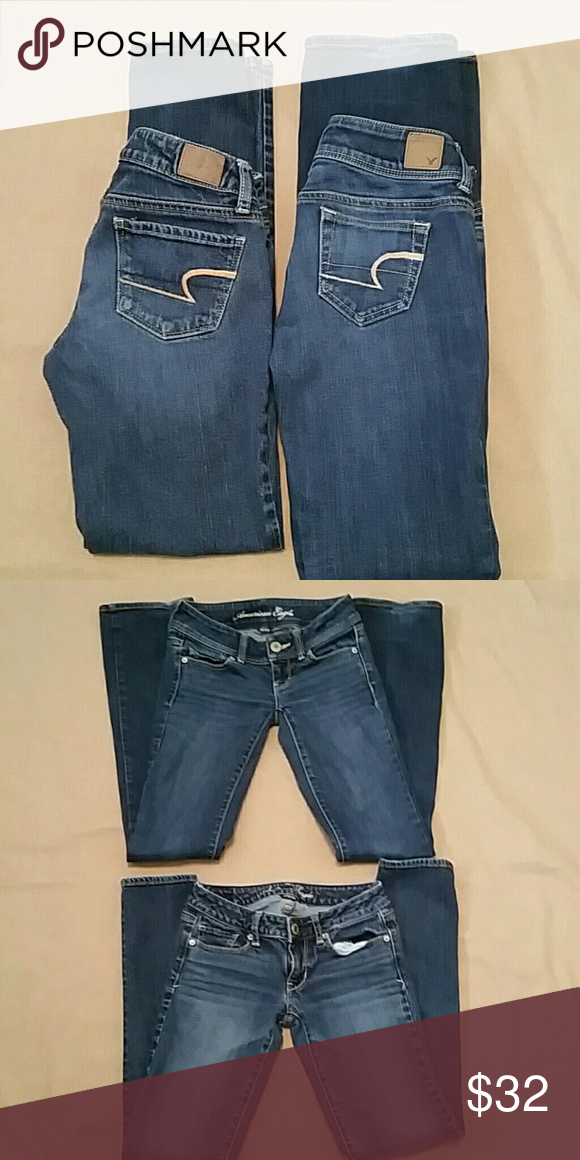 Lot 2 pair American Eagle 1 skinny & 1 slim boot Both in very good condition.   both are stretch.  both are size 00.  One is skinny style and other is slim boot style.  Price is for both pair.  Great deal! American Eagle Outfitters Jeans