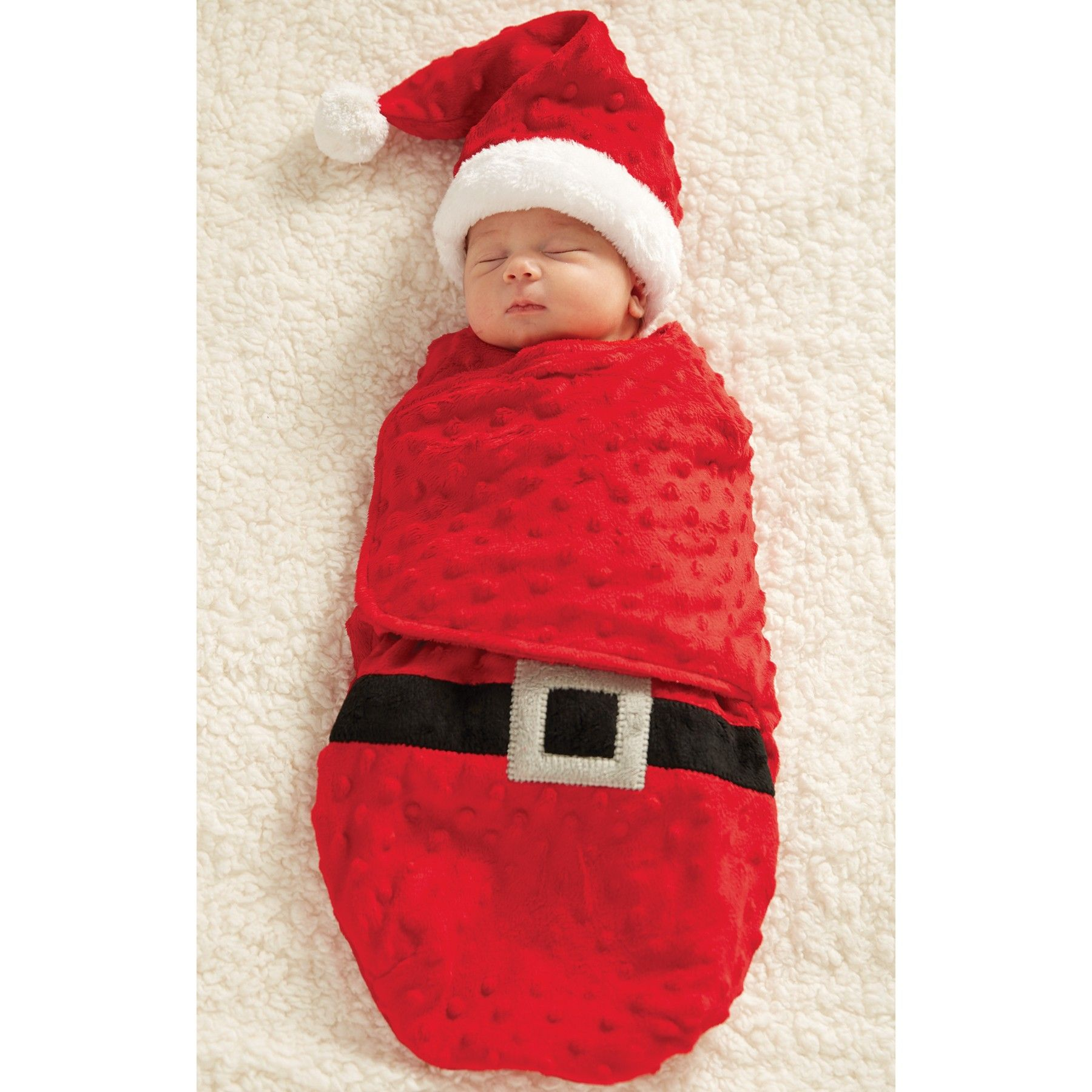 Santa Swaddle Bunting and Cap by Mud Pie Baby dress up