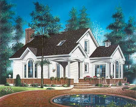 Plan 21137dr Traditional House Plan With Sunroom Country Style House Plans House Plans Traditional House Plan