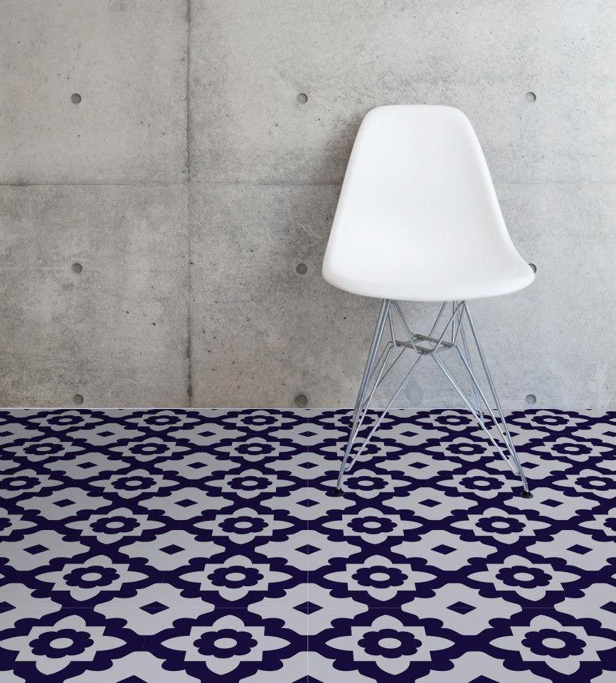 Zelfklevende vloertegels vinyltegels casablanca van - Vloeren vinyl cement tegel ...