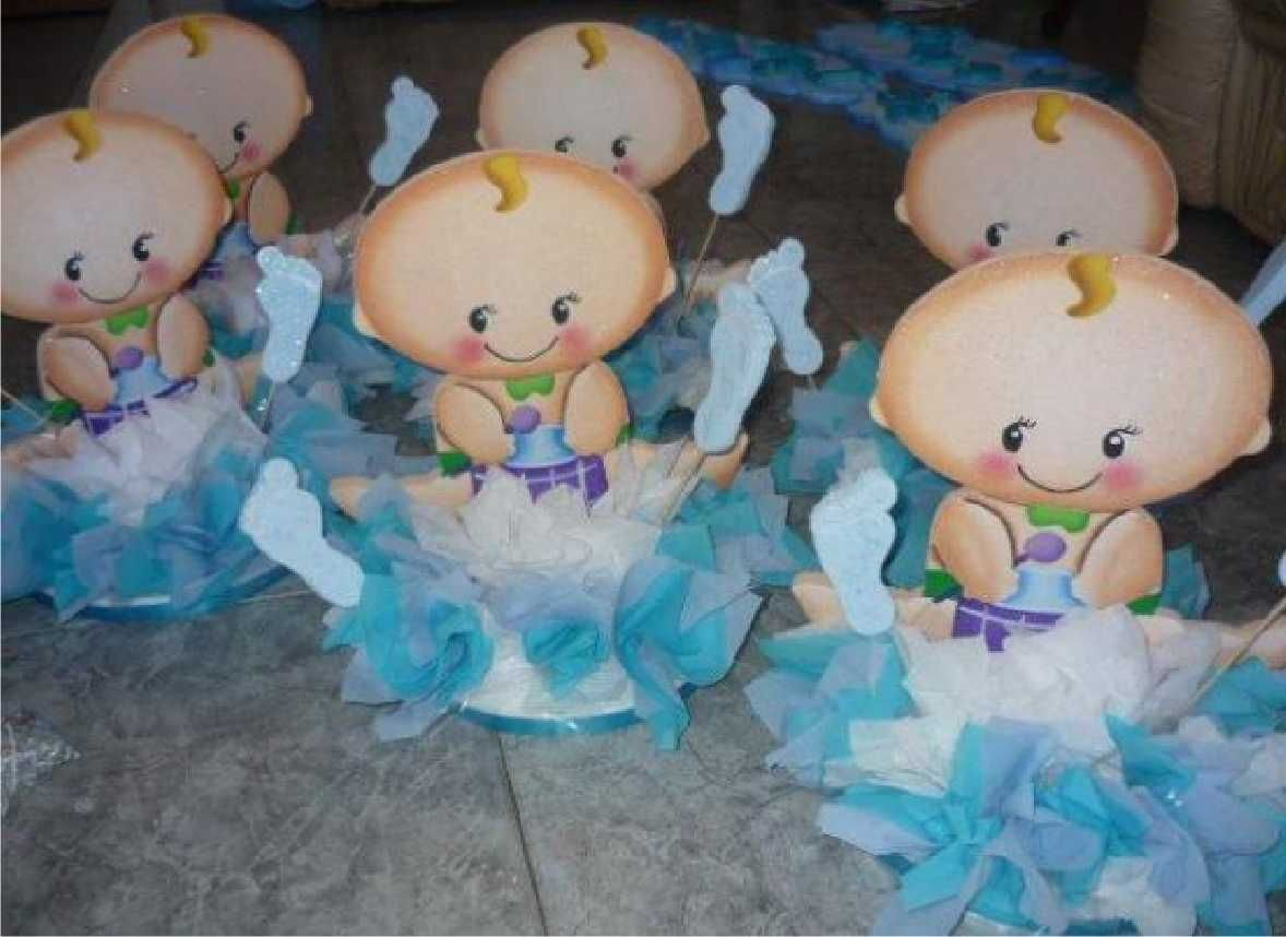 Centro de mesa para babe shower de ni 1178 858 for Mesa baby shower nino