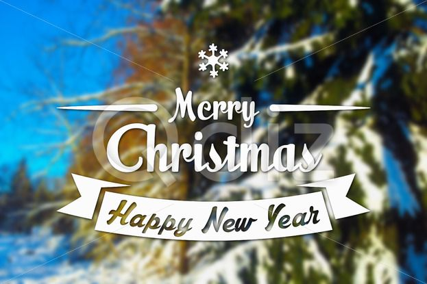 Qdiz Stock Images Merry Christmas and New Year greeting card