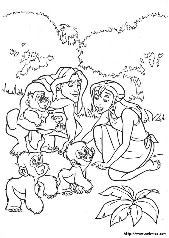 coloriage tarzan | coloring pages in 2018 | Pinterest | Adult ...