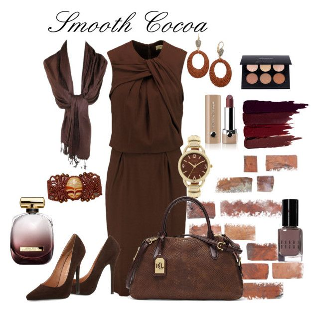 """""""Smooth as Cocoa"""" by lory187 ❤ liked on Polyvore featuring Etro, Jeffrey Campbell, Lauren Ralph Lauren, Studio Time, INC International Concepts, Serge Lutens, Marc Jacobs, Bobbi Brown Cosmetics and Nina Ricci"""
