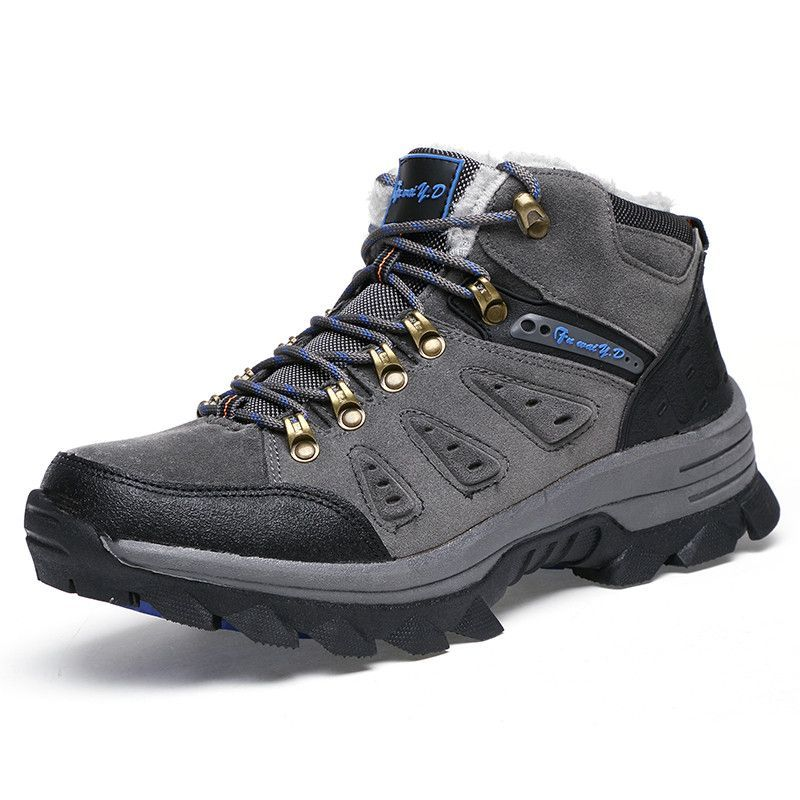 Winter hiking shoes men outdoor waterproof climbing boots mountain zapatillas trekking mujer warm women snow boots size 35-46