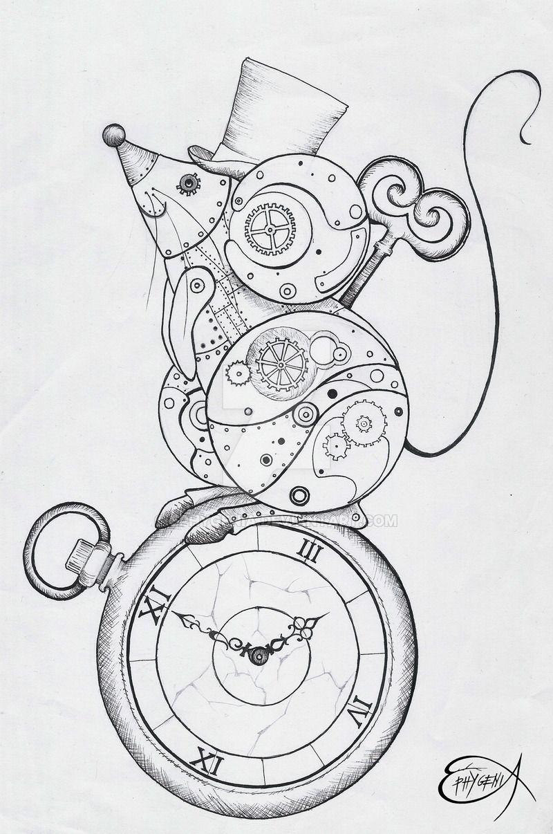 Steampunk Clockwork Mouse WIP By EpHyGeNiA