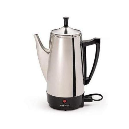 Presto 12 Cup Stainless Steel Coffeemaker Includes Filter Basket And Perk Tube Coffee PercolatorDrawing