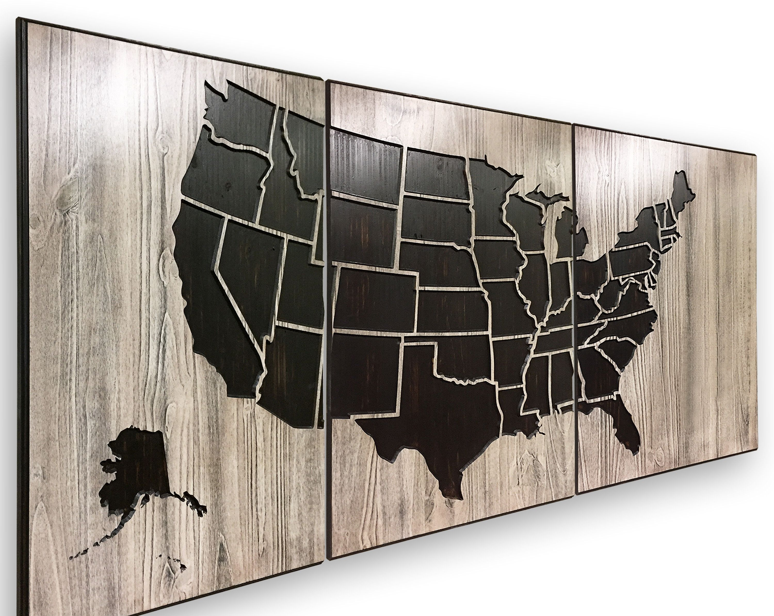 Us Map Artwork.Picture Of Us Carved 3d Us Map Art Wood Wall Art Poster Canvas