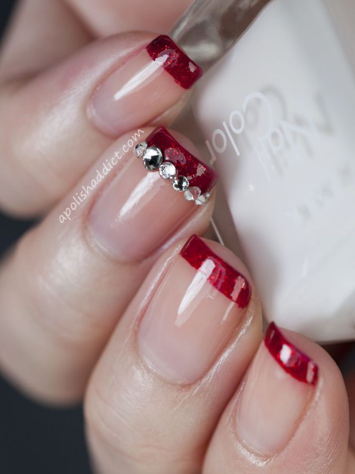 Simple nail art design for christmas nails art nails simple nail art design for christmas prinsesfo Image collections