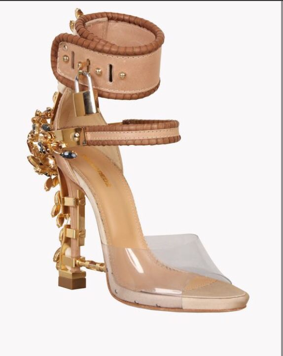 bc6db8182a These Virgina High Heels Sandals from dsquared2, these are the same shoes  Rihanna wore on her Instagram page.