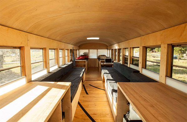 Architecture · great luxury and comfortable school bus converted into small home