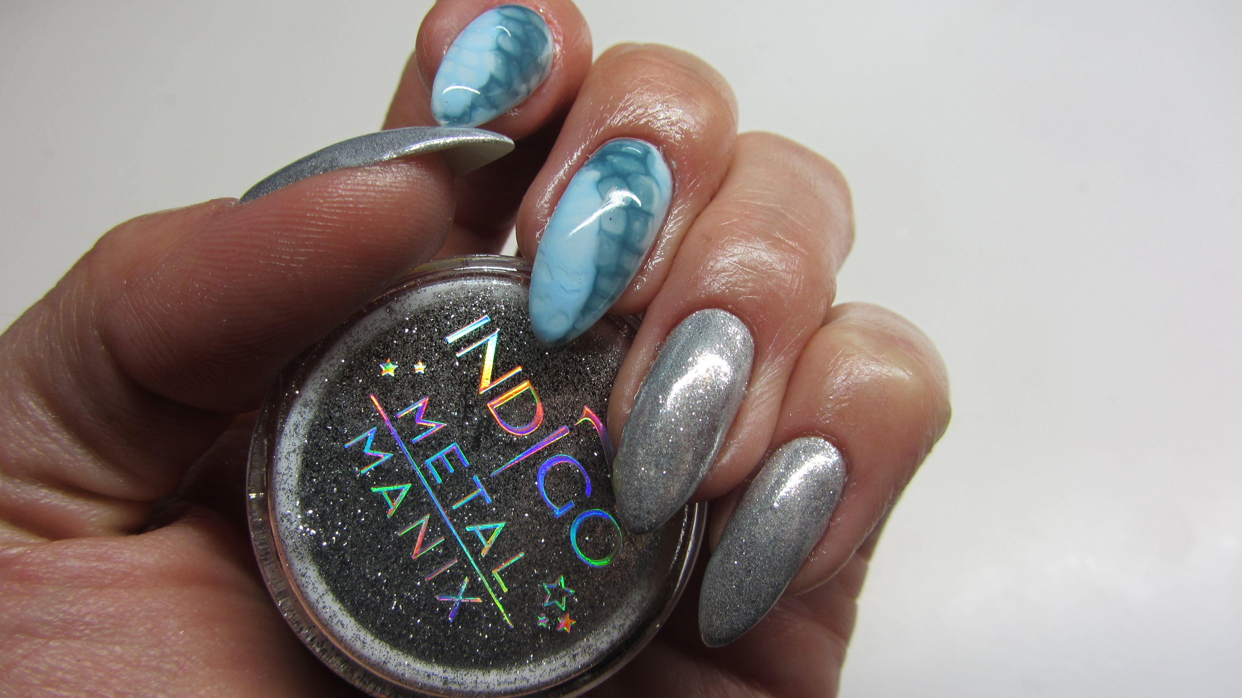Snake Skin Nail Art Metal Manix Indigo Madam Glam