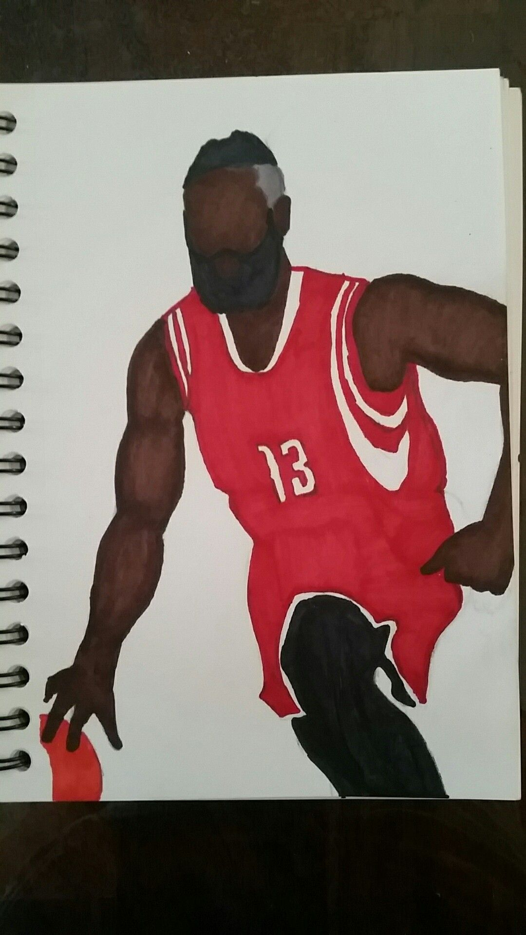 How To Draw James Harden Basketball Houston Rockets Nba Player