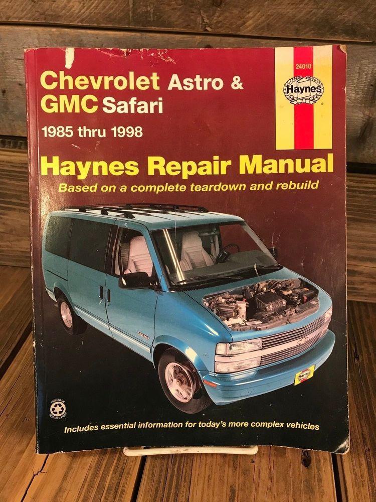 chevrolet astro gmc safari 1985 thur 1998 haynes repair manual rh pinterest com 1994 GMC Safari Steering Column 1997 GMC Safari