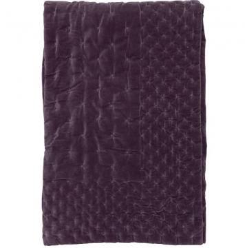 couvre lit linum Couvre lit velours Paolo de Linum / prune | Décoration  couvre lit linum