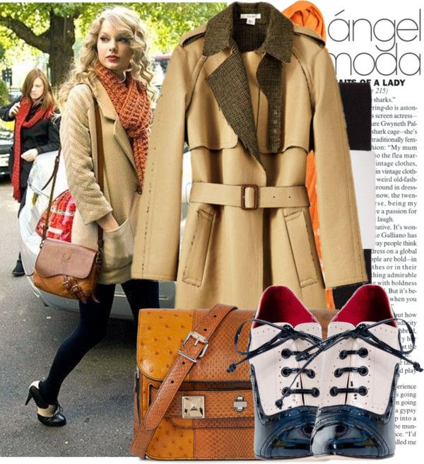 """""""17. Taylor Swift Style : Beige Coat"""" by diahdzahrani on Polyvore"""