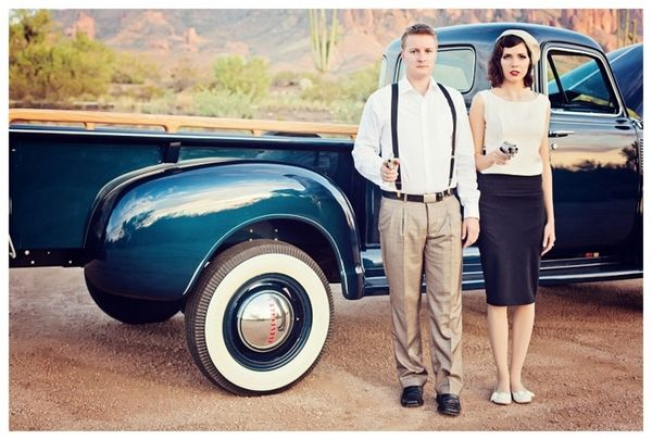 Bonnie And Clyde Theme Engagement By Le Boudoir Studio How Perfect