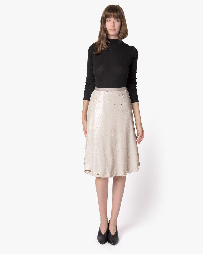 Hudson Skirt in Ivory/Gold