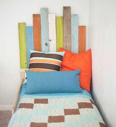 20 fotos e ideas para hacer cabeceros de cama infantiles y - Hacer cabecero cama ...