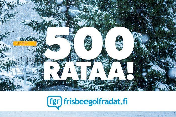 500 rataa!   Frisbeegolfradat.fi