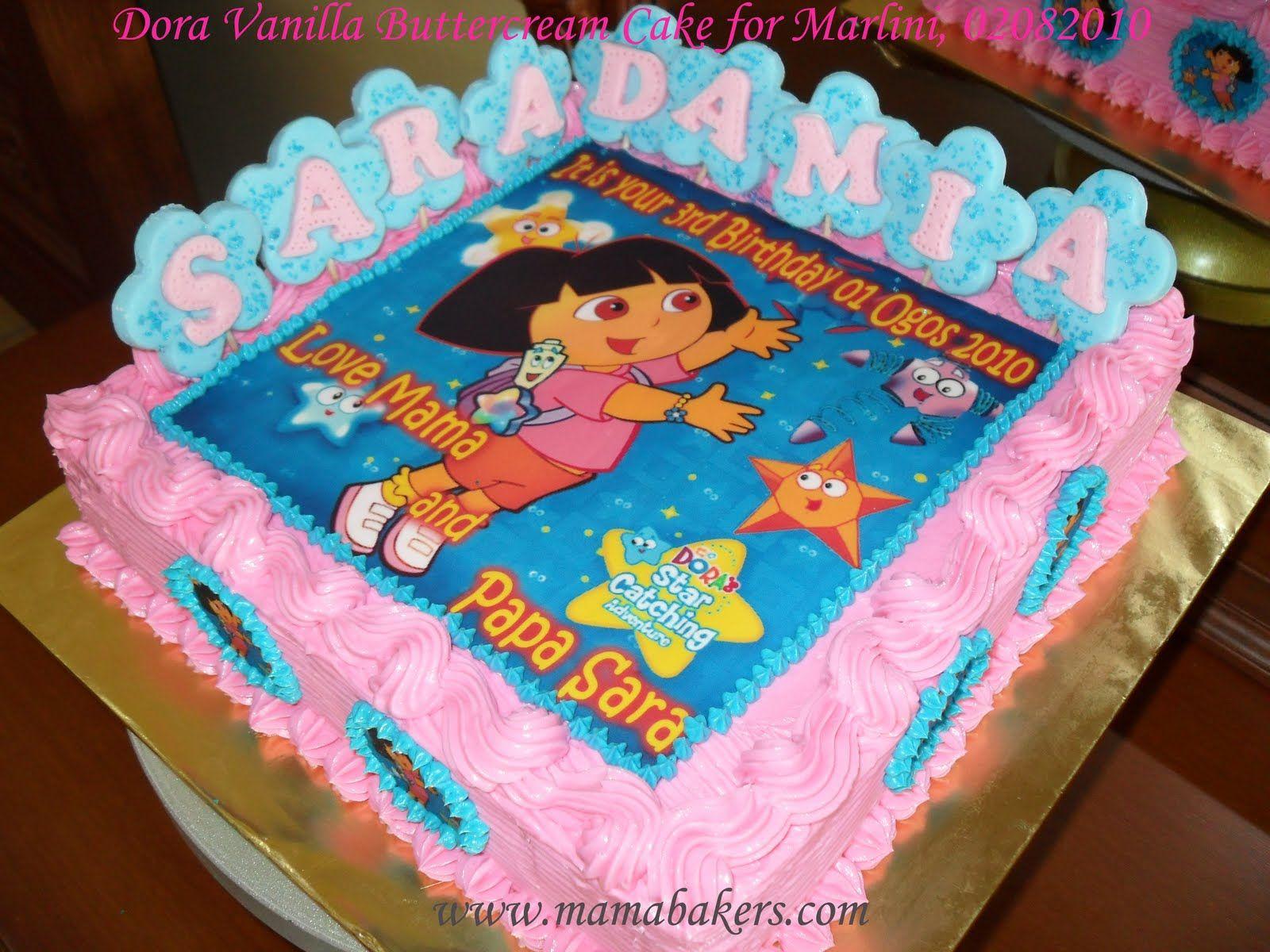 Fantastic Dora Cake For Sara Damia With Images Dora Cake Cake Dora Birthday Cards Printable Benkemecafe Filternl