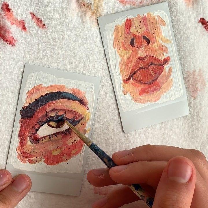 einige unordentliche kleine Polaroids POSITIVITÄTSKETTE! Beginnen Sie mit Hallo, dann Kompl...
