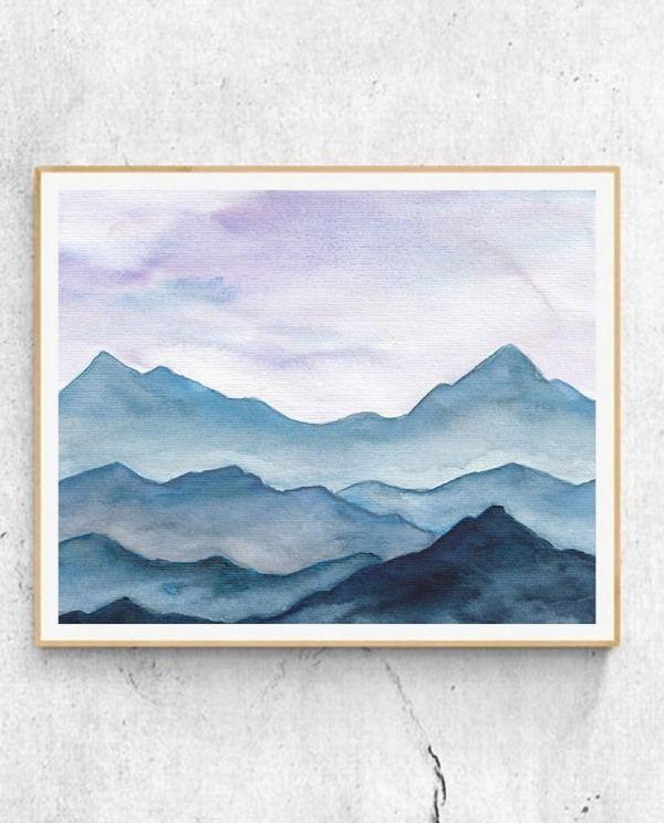 Anfänger lernen, Acryl zu malen Aurora Borealis Landschaft #easywatercolorpaintings