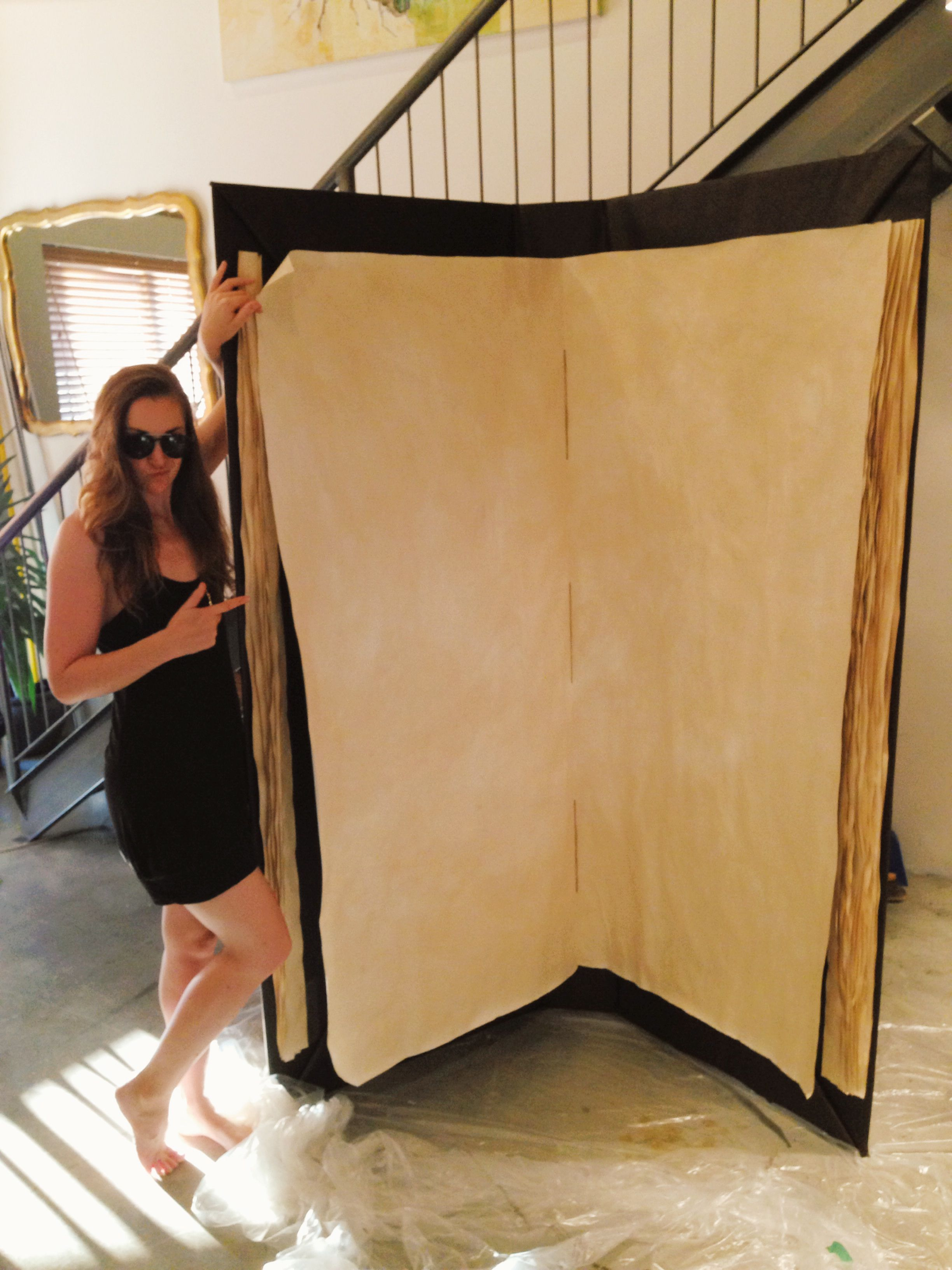 Building a giant book mattress box and craft stall display Build storybook