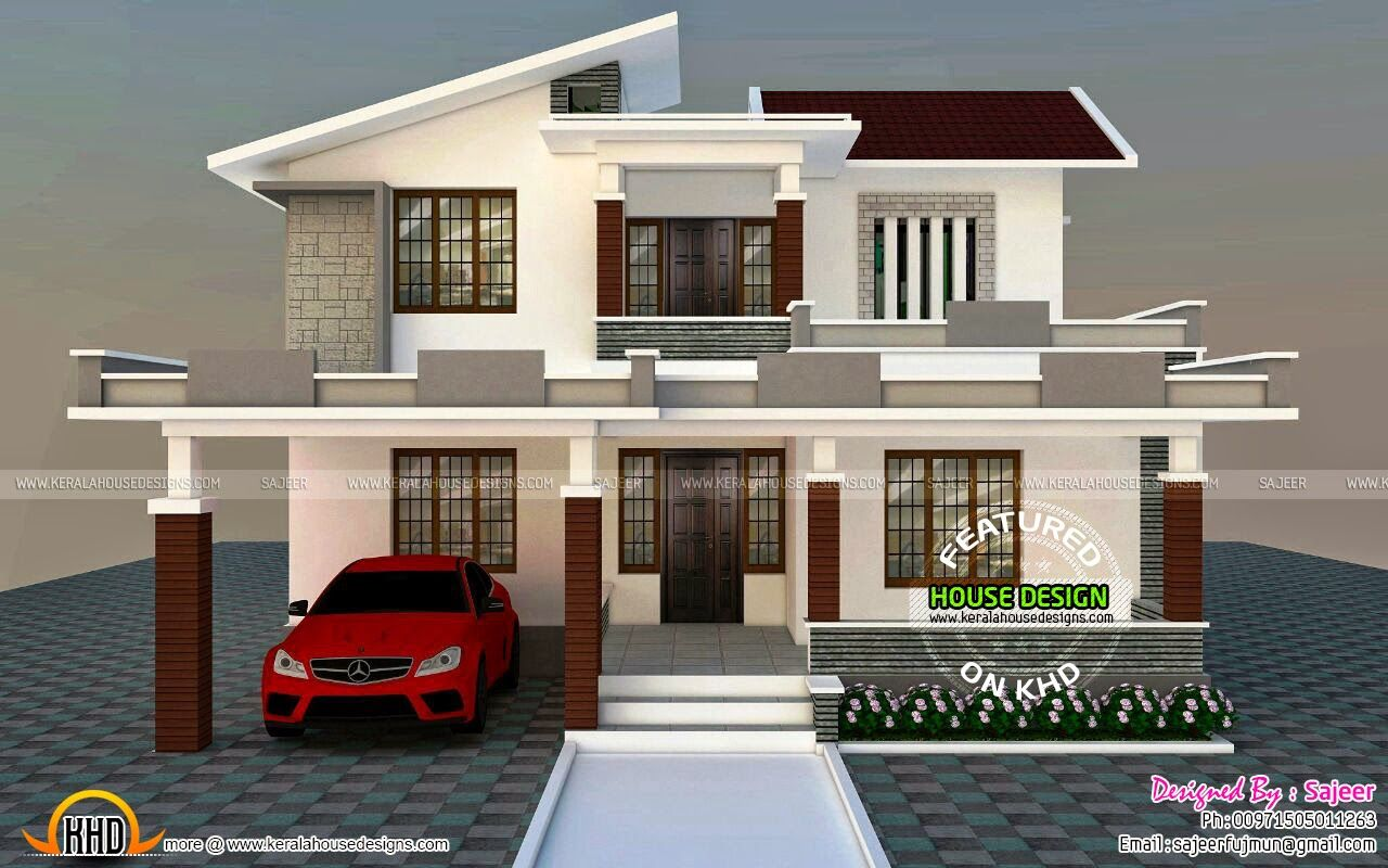 Beautiful Front Elevation Of Kerala Houses : Front elevation home beautiful homes interiors house